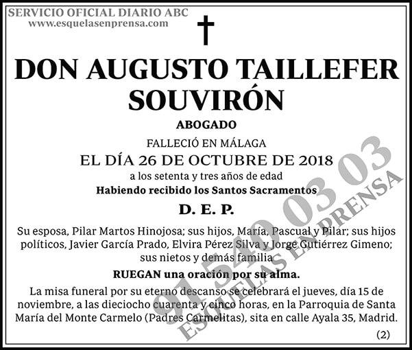 Augusto Taillefer Souvirón